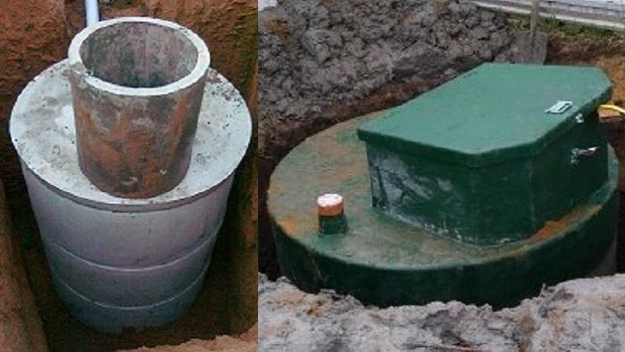 Септик из бетона и пластика